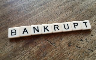 bankrupt lost