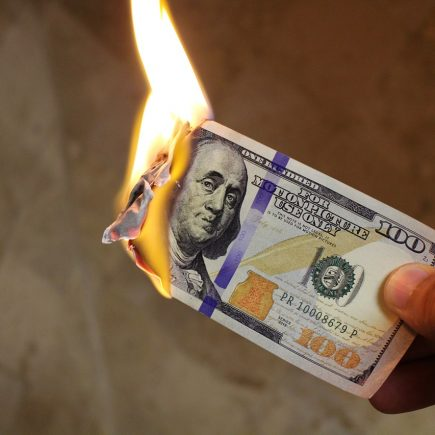 waste money burning